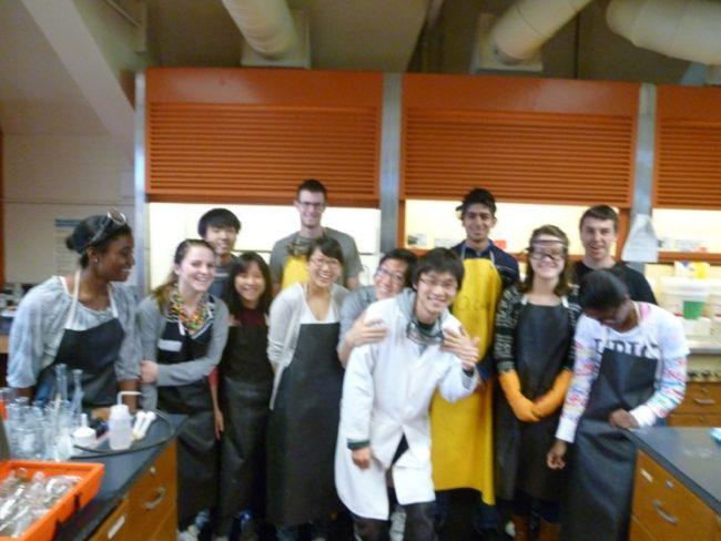 TAのクラス。学生実験の最終日。