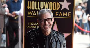 Jeff Goldblum honoré d'une étoile à Hollywood
