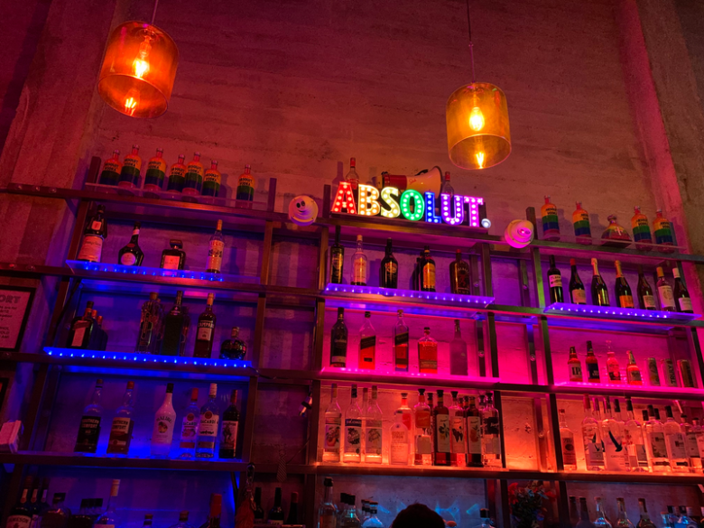 Inside The Port Bar, a well known LGBTQ bar in downtown Oakland.