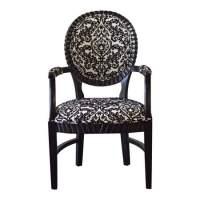 Bella Chair - Black/White Damask Rentals   Chair Rentals