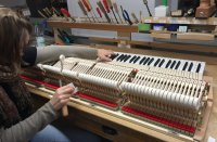 Adjusting the hammers - How do you make a piano? We go ...