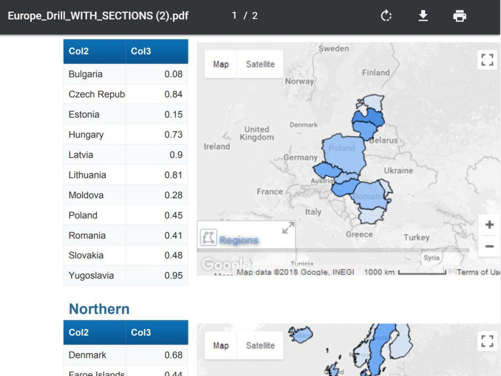 Create Printable Maps In Webi