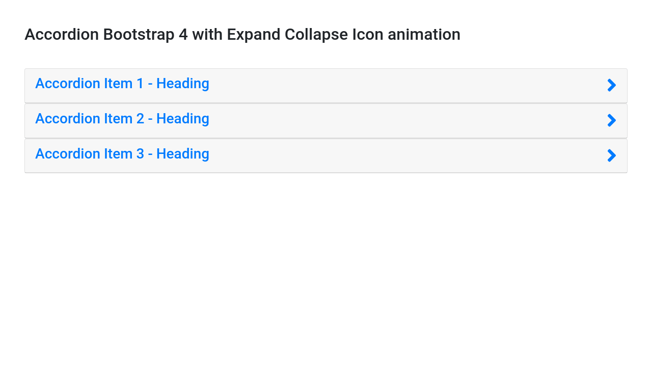 Accordion Bootstrap 4 with Expand Collapse Icon animation