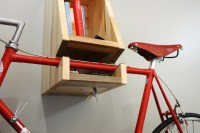 A Multifunctional, Blue-Stained Wooden Bike Rack - Cool ...