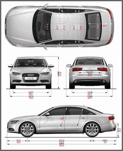 audi a6 interior dimensions. Black Bedroom Furniture Sets. Home Design Ideas