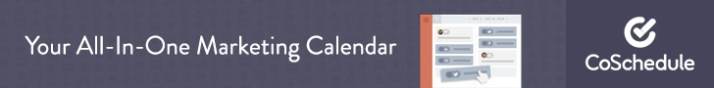 CoSchedule - The #1 Marketing Calendar