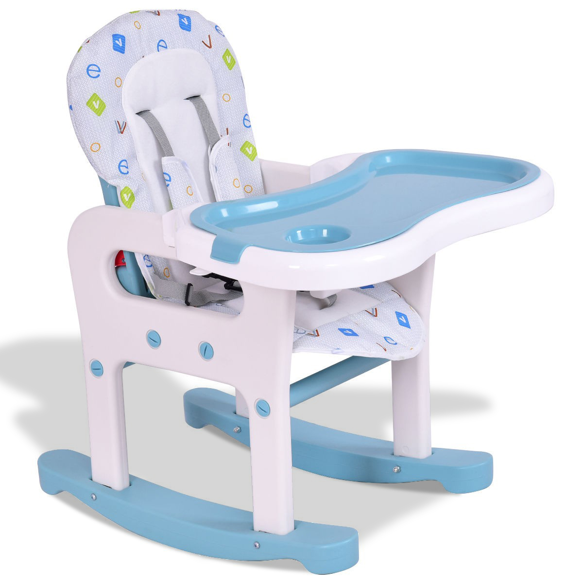baby highchair 3 in 1 white chair covers for dining room chairs ingenuity trio smartclean high aqua blue