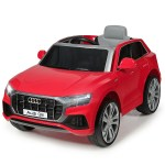 Kids Ride On Car Licensed Audi Q8 12v Battery Powered Vehicle W 2 Motors 2 4g Remote Control Led Lights Mp3 Horn Music 2 Doors Open Black Red White