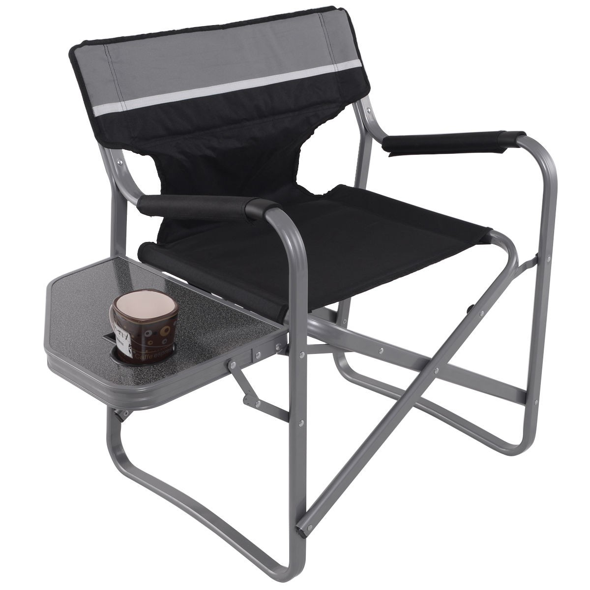 Folding Outdoor Camping Directors Chair with Cup Holder