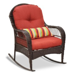 Rattan Wicker Rocking Chair Cushion Dx Razer Outdoor Adirondack W Seat