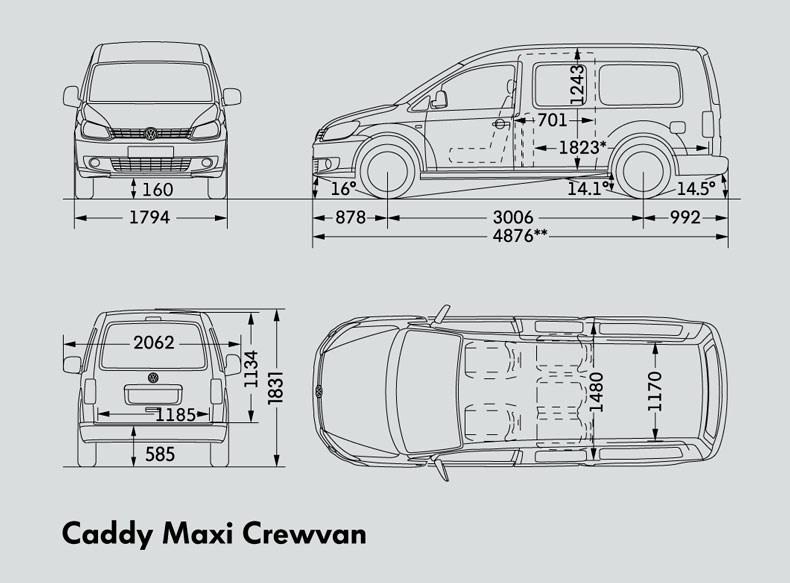 New VOLKSWAGEN CADDY MAXI CREWVAN Light Commercial for sale