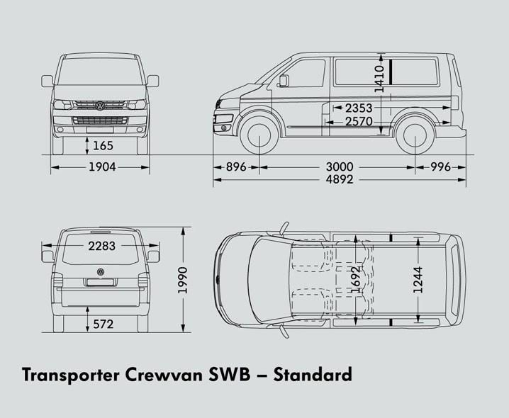 VOLKSWAGEN TRANSPORTER SWB CREWVAN Trucks On Road Trucks