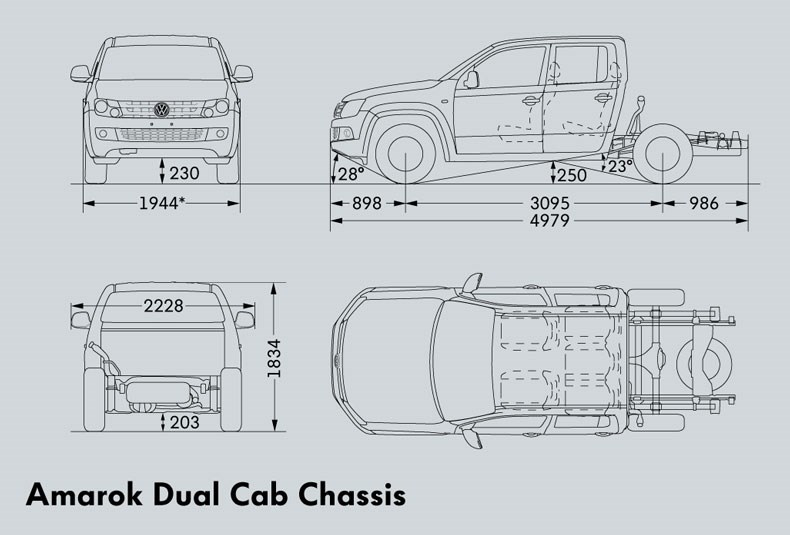 VOLKSWAGEN AMAROK DUAL CAB (Cab Chassis) Trucks On Road