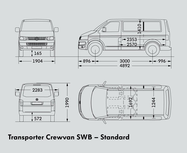 VOLKSWAGEN TRANSPORTER SWB CREWVAN Trucks On Road Trucks