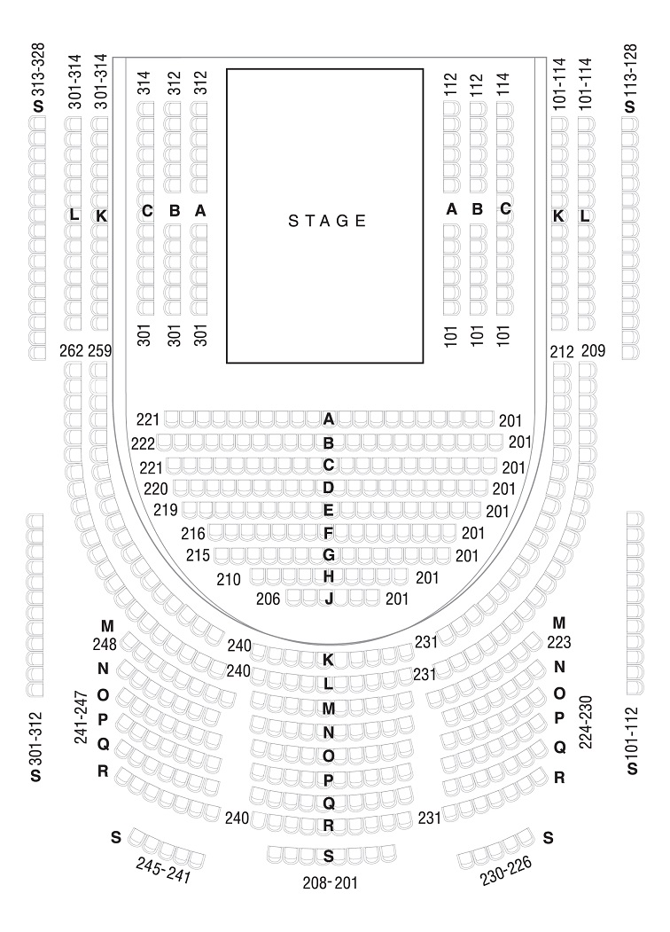 hight resolution of seating diagram
