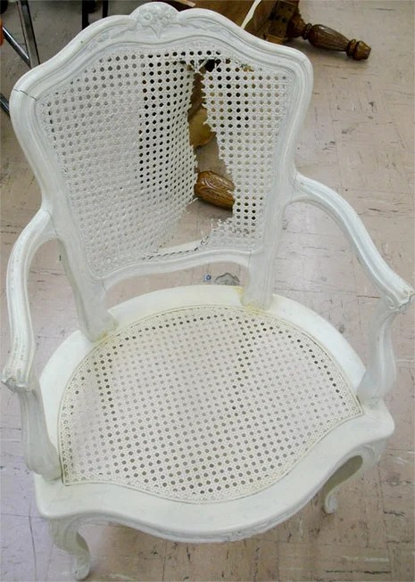 How To Fix a Torn Cane Chair  Curbly  DIY Design  Decor