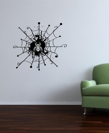 Spider for halloween vinyl Decal 22x22 inch Wall Mural