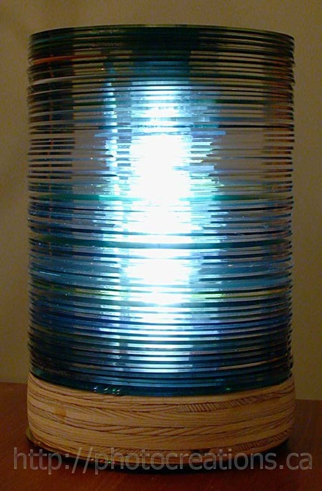 How to make a lamp out of old CDs  Curbly