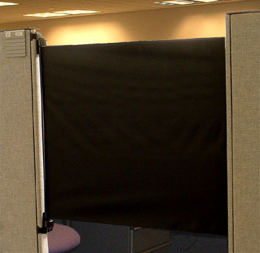 Cubicle Door Increases Productivity, Isolation From