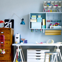 Getting Organized: Home Office Inspiration & How