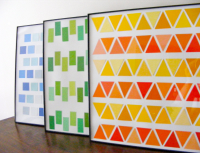 Crafty Idea: Geometric Wall Art from Paint Chips! | Curbly
