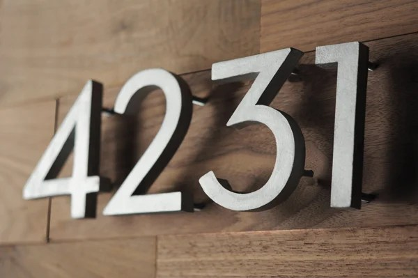 modern house numbers diy project