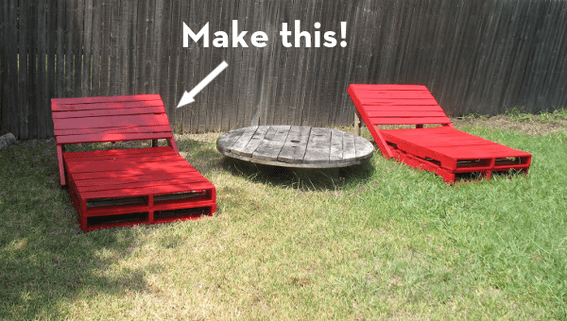 Mod outdoor pallet lounger DIY project