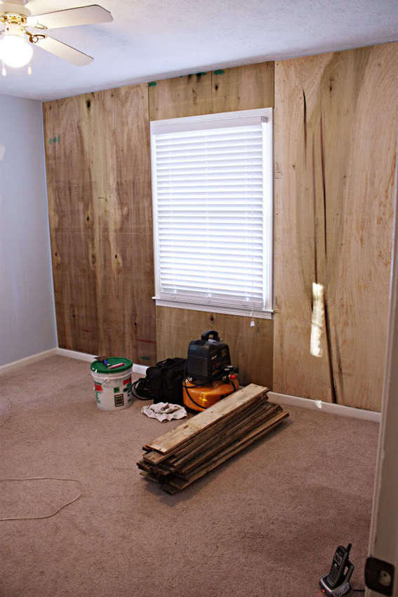nursery wall paneling with wood pallets