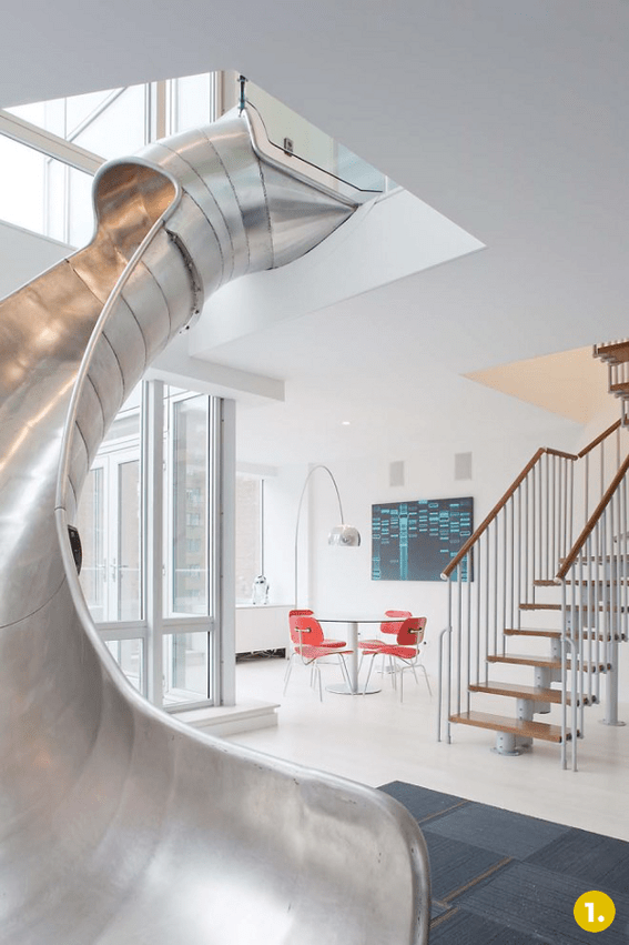 Slides in Houses The Top 5 Coolest Indoor Slides  Curbly