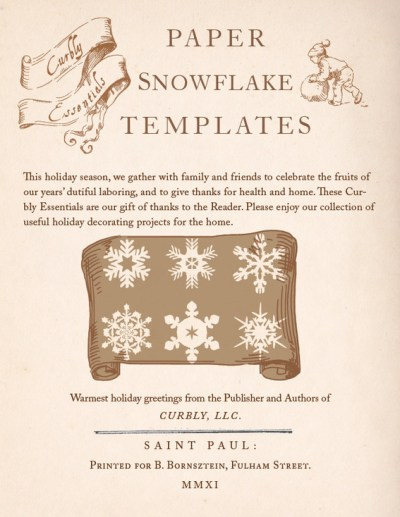 Curbly Essentials: Paper Snowflake Templates