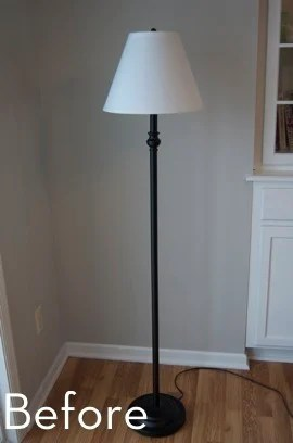 A Glam Bam Floor Lamp Makeover  Curbly  DIY Design  Decor