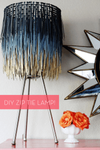 How To: Make a Stylish DIY Zip Tie Lamp Shade! | Curbly