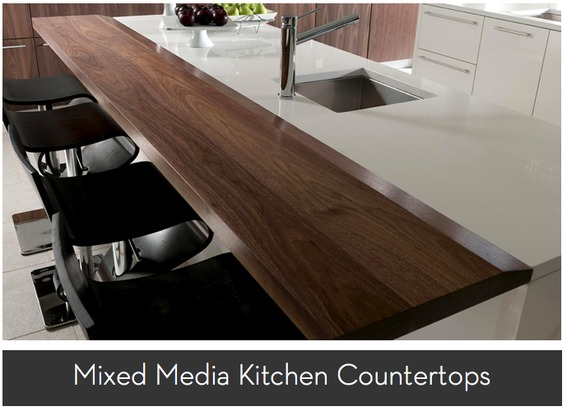 rooms to go kitchen islands brushed nickel faucets roundup: mixed media countertops | curbly