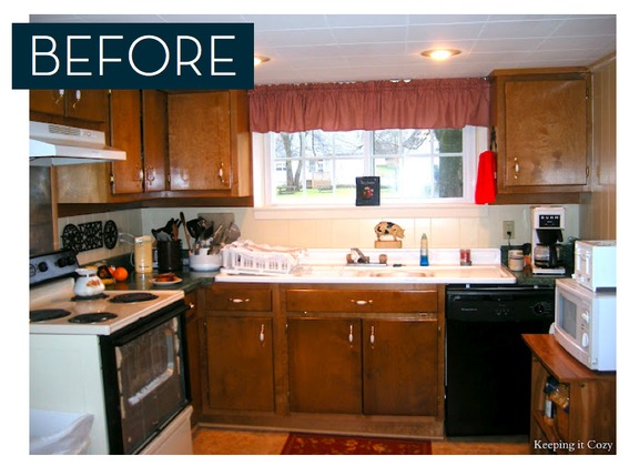 inexpensive kitchen cabinet makeovers painted islands unbelievable $1000 makeover | curbly