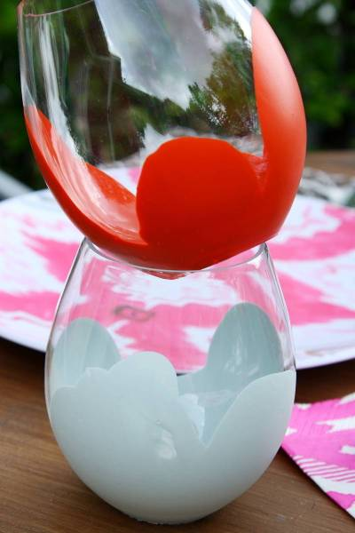 dipped stemless wine glasses