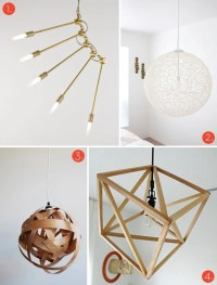 Roundup: 20 Awesome DIY Modern Lighting Projects!  Curbly ...