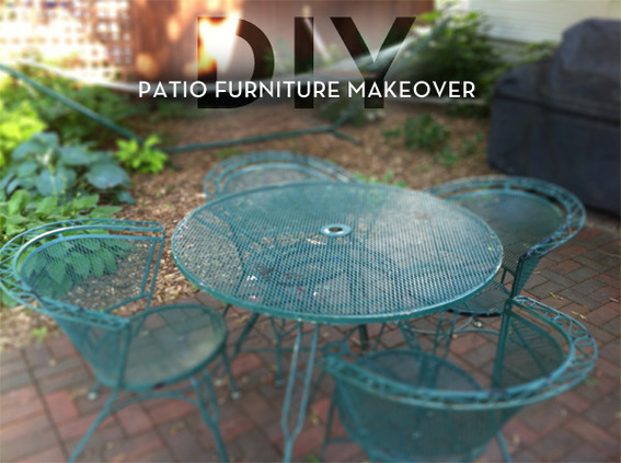 Reader ReDo A Colorful Patio Furniture Makeover  Curbly