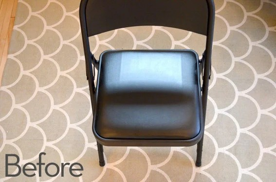 folding chair racks diy stand up high how to easy makeover curbly