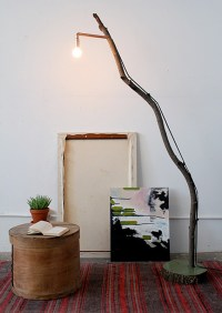 How To: Make a DIY Tree Branch Floor Lamp | Curbly
