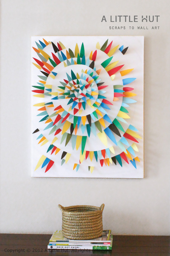 Make It Modern Diy Paper Scrap Wall Art Curbly Diy