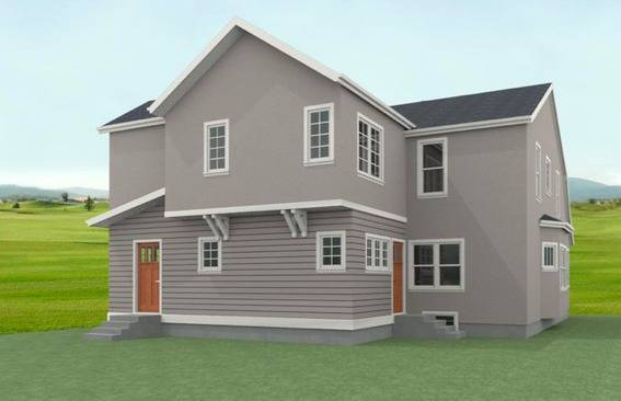 Rendering of the rear of the addition