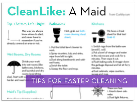 Tips for faster cleaning techniques