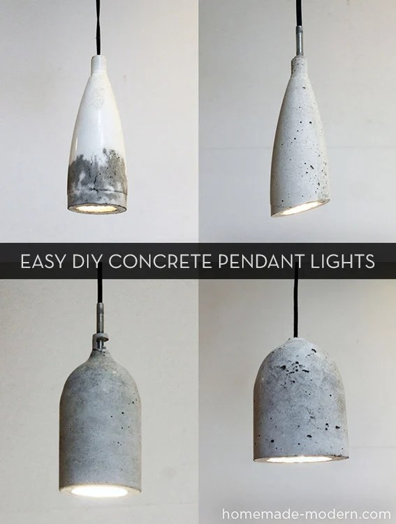 Ikea Hochbett Tromsö Quietscht ~ How to make easy modern diy concrete pendant lights 187 curbly diy