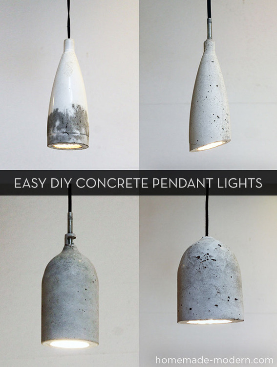 Ikea Poang Chair Good For Nursing ~ How to make easy modern diy concrete pendant lights 187 curbly diy