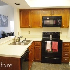 Kitchen Cabinet Faces Pulls For Cabinets Before And After: Goodbye 80s | Curbly
