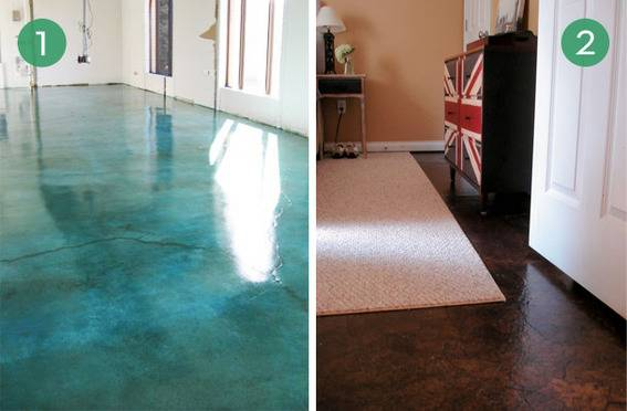 10 Easy and Inexpensive DIY Floor Finishes  Curbly  DIY