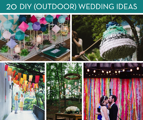 Roundup 20 Amazing DIY Outdoor Wedding Ideas Curbly