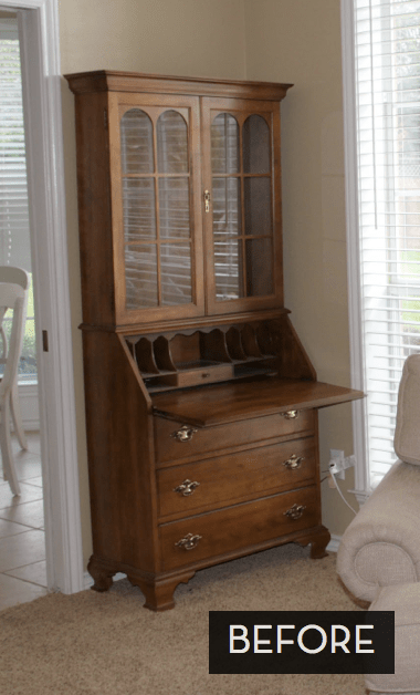 Outstanding Secretary Desk Makeover  Curbly  DIY Design