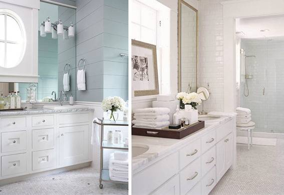 Neutral tones for a spa bathroom