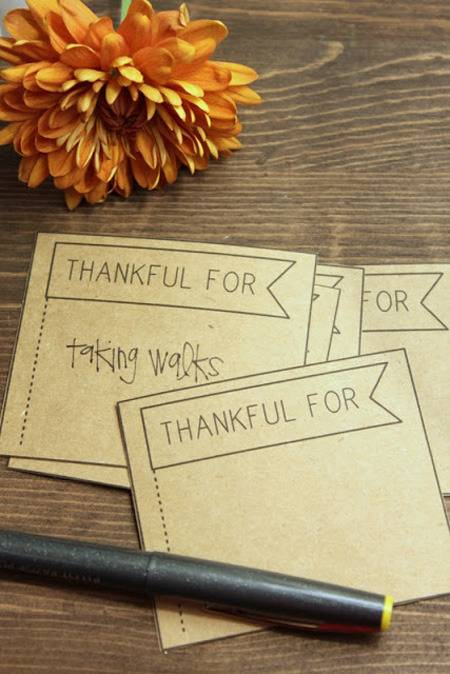 Thankful + Printable via Lovesome